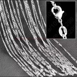 "26""  925 Sterling Silver Figaro Chain"